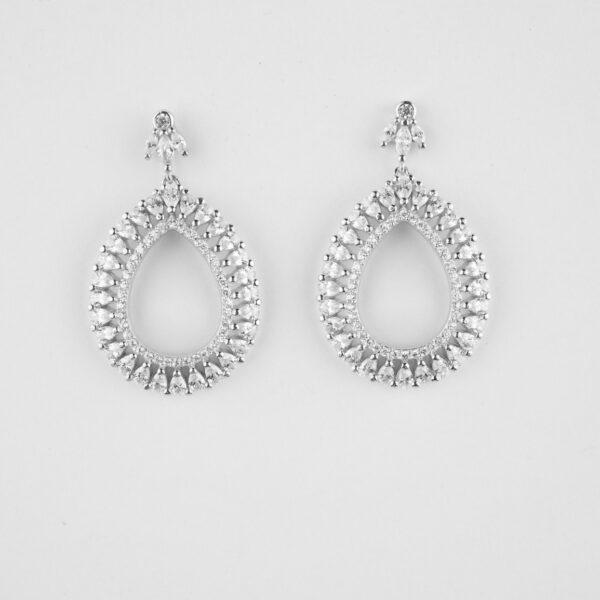 Silver Rhodium Earrings
