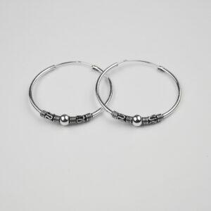 Silver Bali/Hoop