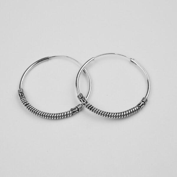 Silver Balis/hoops