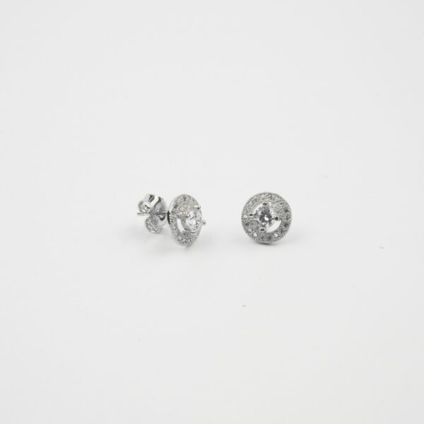 Small Cz Solitaire Round Studs