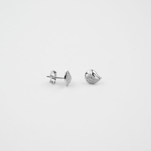 Curved Tiny Studs In Pure Silver