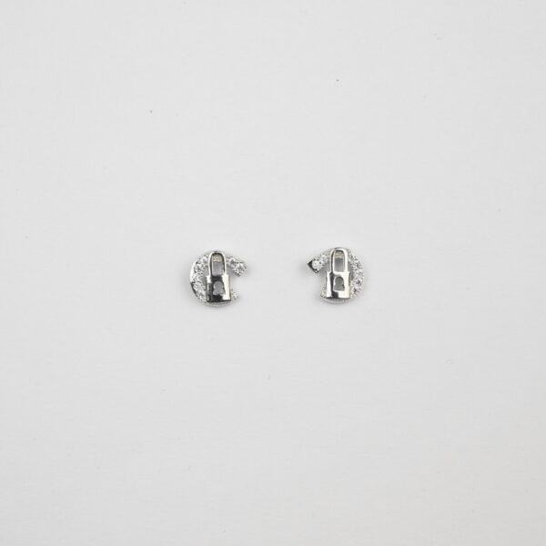 lock silver studs