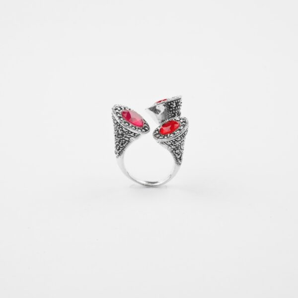 marcasite silver ring
