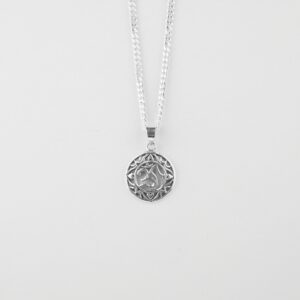 om pendant in sterling silver