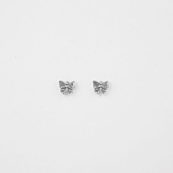 butterfly silver stud earrings