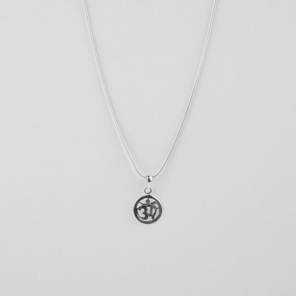 silver OM pendant